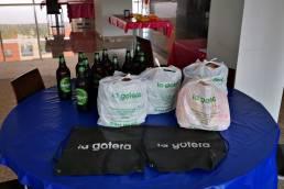Comida y bebida donada por Restaurante La Gotera