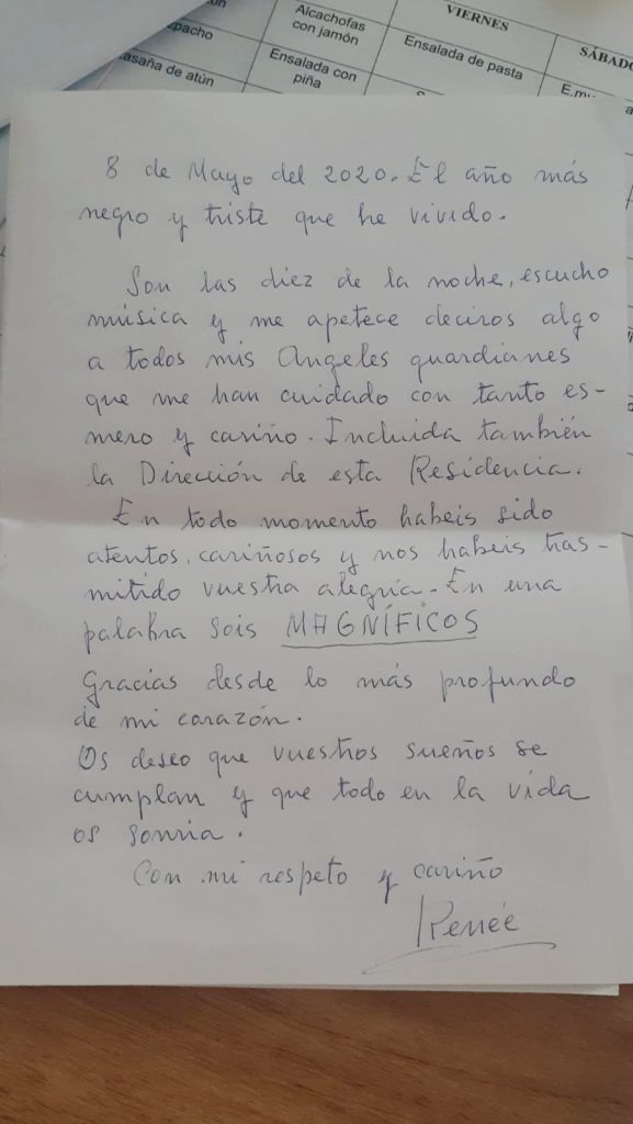 Carta de Reneé